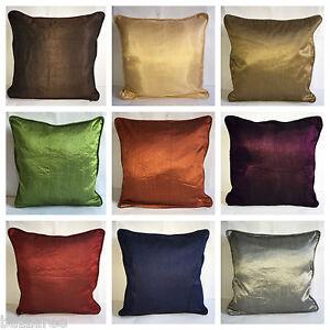 Luxury Plain Dyed Cushion Cover Covers Silk Pillow Case Home Sofa Decor Floor UK