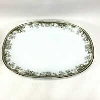 "Vintage Noritake 6977 Fellicia Pattern 11"" Oval Serving Plate Platter Dish"