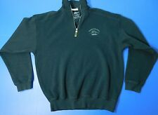 Tommy Bahama Relax 1/2 Zip Pullover Sweater Size Small Black Embroidered Marlin