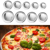 Metal Pizza Plate Tray Holder Serving Baking Pan 6/8/9/10/11/12/12/14/15inch
