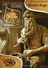 Guinea 2015 MNH Michelangelo 540th 1v S/S Sculptures La Pieta St Peters Stamps