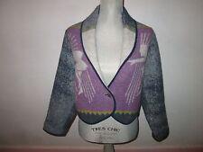 Rare LAURIE JACOBI Wool Blanket Short Jacket Coat Size S *USA