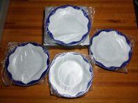 Pottery Barn Hanukkah Dessert Plates Set of 4 New in original box