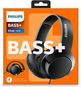 Philips BASS+ BLACK Cuffie Over-ear Isolamento Acustico con Cavo e Microfono