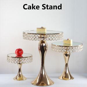 S/M/L Cupcake Display Stand Wedding Crystal Cake Pedestal Dessert Holder