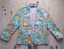 MAURICES - NWT $49 Womens Pastel Floral Flower Blazer Jacket, MEDIUM - MUST SEE!