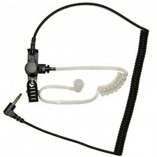 "Listen Receive Only 3.5mm Earpiece 12"" Cable for 2-Way Radio Speaker Microphone"