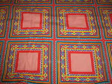 """CHEATER QUILT or HANDKERCHIEF SQUARE PRINT Cotton Fabric  45"""" Wide x 2¾ YDS"""