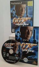 PS2 GAME 007 NIGHTFIRE COMPLETE MANUAL JAMES BOND