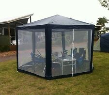 Screened Fly Netting Waterproof Hexagon 2x2x2m Outdoor Canopy Shelter Gazebo