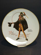 "Norman Rockwell Collector's Plate ""God Bless Us Everyone"" Said Tiny Tim 1974 Usa"