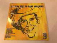 THE VERY BEST OF HANK WILLIAMS, MGM, VINYL ALBUM,  HAS SHRINK WRAP