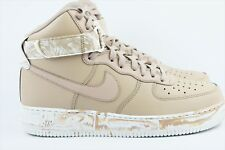 Nike Air Force 1 High '07 LV8 LTHR Mens Size 9.5 White Tan Leather AF1 AT3293