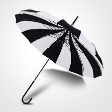 Black + White Retro Pagoda Umbrella Parasol Umbrella Sun Umbrella UV Retro