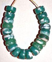 Antique Czech Bohemian Molded Glass 'Kancamba' Beads, African Trade Beads