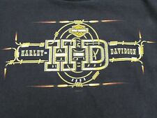 Harley-Davidson Of Fort Myers Florida Black w/ Wire Design T-shirt Men's Size XL