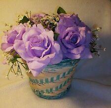 1 Wedding Decorations Quinceanera Anniversary Party Silk Lavender Flower Basket