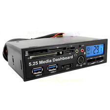 5.25 Media Dashboard PCIE PCI-E to USB 3.0 HUB USB2.0 All-in-one Card Reader