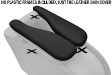 BLACK STITCH FITS RENAULT SCENIC MK2 II 03-09 2X BLACK LEATHER ARMREST COVERS