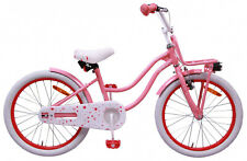 "Bike Superstar 20"" Inch Girls Coaster Brake Front Carrier LED Light Pink"