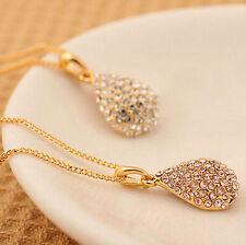 Fashion Jewelry Crystal Ball Pendant Statement Chain Necklace Choker Gold Silver
