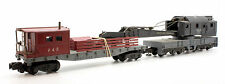 AMERICAN FLYER S GAUGE INDUSTRIAL CRANE WAGON WITH SUPPORT WAGON (T17)