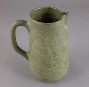 Vintage A.R. Cole Pottery Pitcher Green Glaze Sanford NC North Carolina Clay