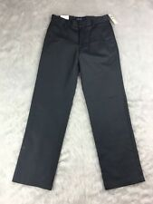 Izod New Mens Wrinkle Free American Chino Gray Straight Pants Flat Front Cotton