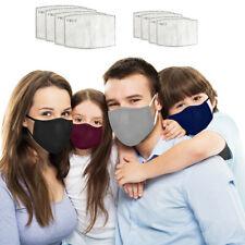 4pcs Parent-Child Washable Reusable Adult Kids Anti Air Pollution Face Mask Set
