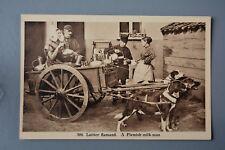 R&L Postcard: Belgium Laitier Flamand, Working Dog & Milk Cart Trailer