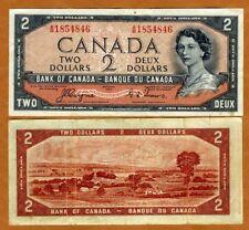 Canada, $2, 1954, P-67a, QEII, VF > Devil's Face