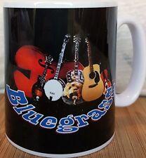 BLUEGRASS TAZZA musicale con tazza in ceramica Guitars Chitarra acustica.