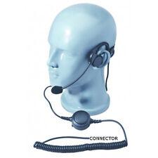 HD LW Behind Head Headset Boom Mic Inline PTT for Motorola XPR3300e XPR3500e