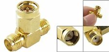 1PCS SMA Female to 2 SMA Male Triple T RF Adapter Connector 3 Way Splitter