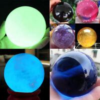 40mm Natural Black Obsidian Sphere Crystal Ball Reiki Healing Stone Gemstone