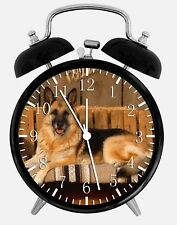 "German Shepherd Alarm Desk Clock 3.75"" Home or Office Decor W121 Nice For Gift"
