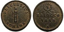 Seconda Repubblica Romana, Baiocco 1849 Ancona