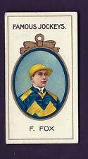 TADDY - FAMOUS JOCKEYS (WITH FRAME) - F FOX