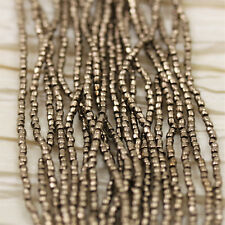 RARE!!! 9/0 3CUT METALLIC BRONZE CZECH SEED BEADS - 1strand - 18""