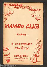 "1 PARTITION ""MAMBO CLUB"" - Mambo 1954"