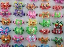 Wholesale Lots Mixed style 10pcs charming butterfly polymer clay child rings