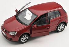 BLITZ VERSAND VW Golf V 5 weinrot Welly Modell Auto 1:34 ca.12cm NEU & OVP