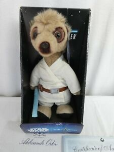 Star Wars Meerkat Luke Skywalker Aleksandr soft toy boxed with certificate