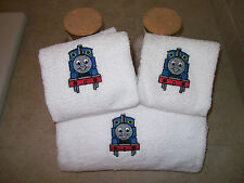 Embroidered Personalized Thomas the Tank Engine -3 Pice Bath towel set