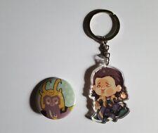 Avengers Thor Ragnarok Loki Kawaii Charm Strap Keychain Keyring Pin Ita Bag Lot