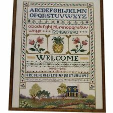 Welcome Sampler Barbara & Cheryl Cross Stitch Kit Includes Linen Fabric & Floss