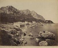 Ile Da Capri Italia Italy Vintage Albumina Ca 1875