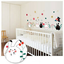 DIY Art Wall Decals Bunny Rabbit Kids Wall Sticker Home Room Decor Removable