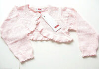 Strick Jacke Gr.98 /104 Name It NEU 100% Baumwolle Bolero Ajour rosa kinder
