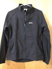 Louis Garneau Women's Cycling Jacket Jersey Long Sleeve Full Zip BLACK MEDIUM
